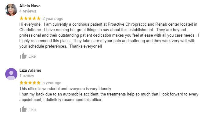 Chiropractic Charlotte NC Testimonials Thirty Five